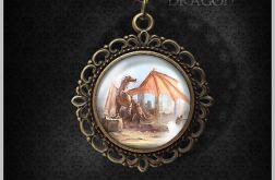 Medalion Dragon - romantyczny