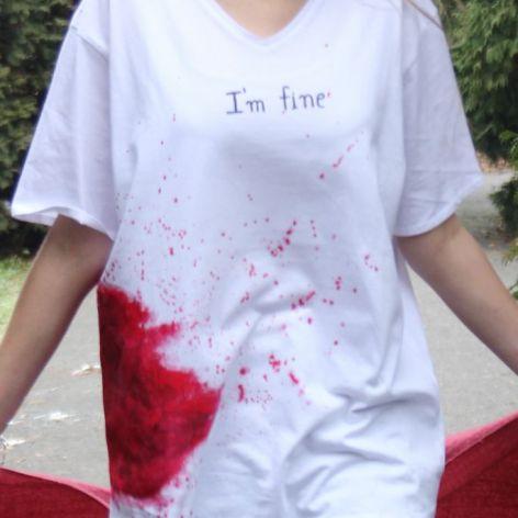 """Krwawa koszulka """"I'm fine"""""""
