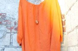 Oranżowa bluzka oversize - rozmiar XL
