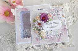 Ślubna kartka w pudełku 140