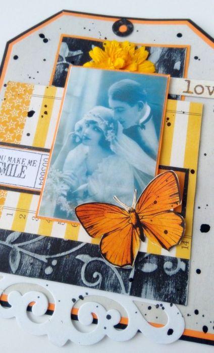 Kartka Miłość w stylu vintage