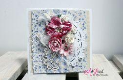 W Dniu Ślubu - kartka z bukietem kwiatów
