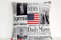 Gazety - poduszka z bawełny Canvas