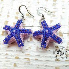 niebieskie rozgwiazdy koralikowe