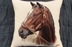 Poduszka gobelinowa Koń