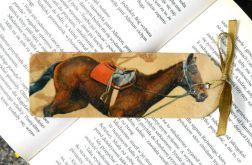 Zakładka książkowa koń z siodłem