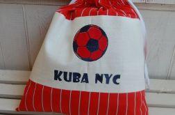 Mały futbolista - czerwony - worek na kapcie