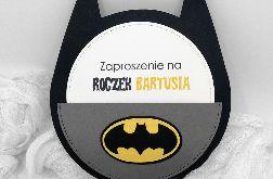 Zaproszenie na roczek Batman ZUD 012