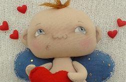 AMOREK, CHERUBINEK, ANIOŁEK lalka - dekoracja tekstylna, OOAK