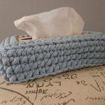 Chustecznik ze sznurka bawełnianego Błękit