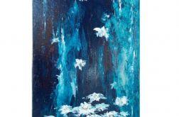 Wodospad z kwiatów - olej na płótnie
