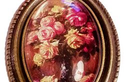 wisiorek retro kwiaty 4_ 20 x 27 mm