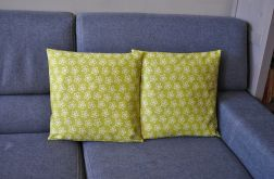 Poszewka dekoracyjna - oliwkowe kwiatuszki