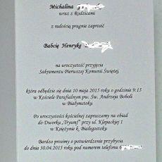 Zaproszenie - Komunia Święta -  dziewczynka