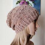 Tweedowy akcent czapka -