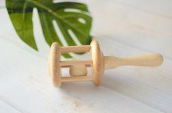 Drewniana grzechotka dla niemowlaka. Handmade