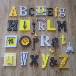 alfabet -żółty