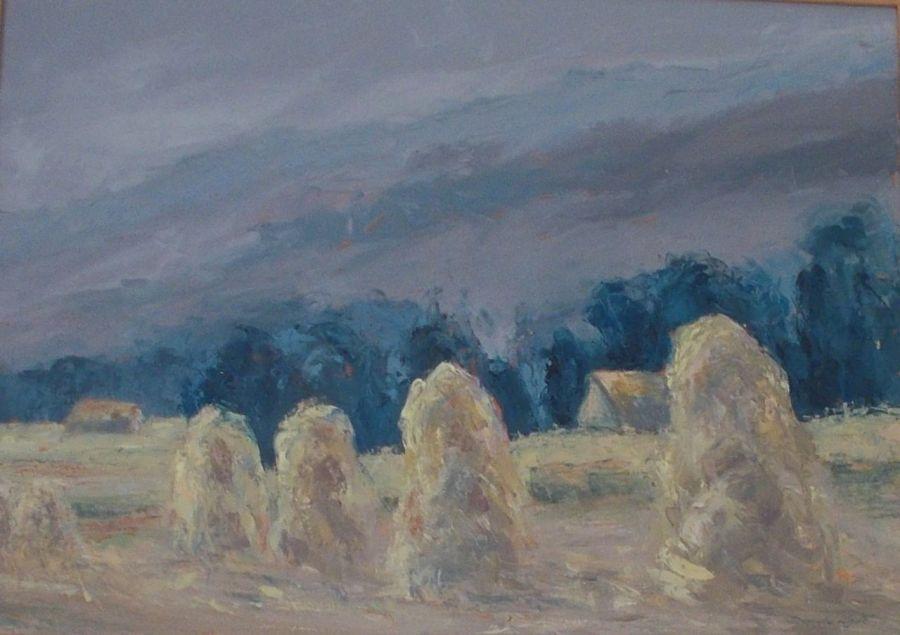 Pod Tatrami - olej na płótnie - Obraz olejny pejzaż
