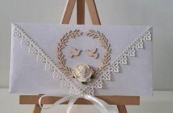 Kartka ślubna kopertowa - gołąbki 2