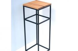 Konsola loft stal dąb stół dębowy LIZZ 60 cm