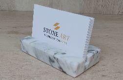 Wizytownik z marmuru Bianco Carrara 10x5cm