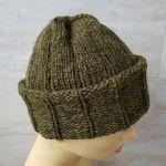 Ciepła czapka unisex w kolorze khaki - czapka unisex