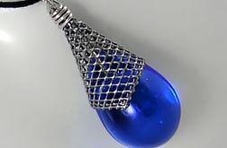 Błękitny w rożku - wisior