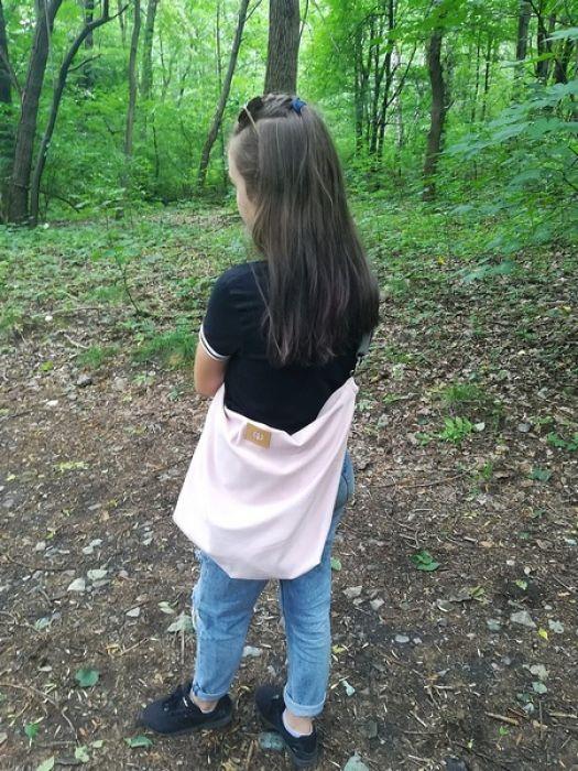 Torba dresowa XXL na ramię pudrowy róż