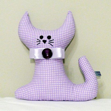 Kotek w kratkę - maskotka