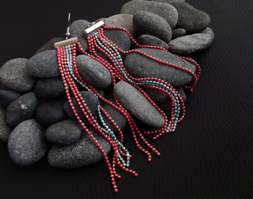 Solque 4 - kolczyki z łańcuszków