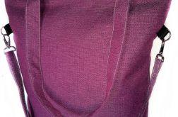 Torebka damska torba shopper fiolet