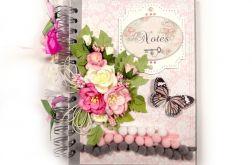 Notes - Sekretnik szaro-różowy