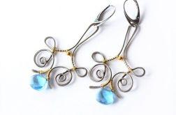Kolczyki srebrne z kryształkami Swarovskiego