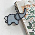 Zakładka do książki Słoń Tiffany - witraż zakładka do książki