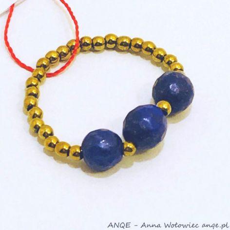 Pierścionek elastyczny Lapis Lazuli model 6
