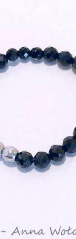 Pierścionek elastyczny Spinel czarny -model2