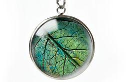 Green leaf naszyjnik z ilustracją