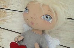ANIOŁEK lalka - dekoracja tekstylna, OOAK /08