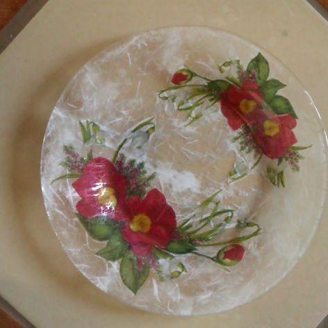 talerz kwiatowy mały