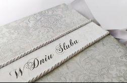Kartka na ślub w szarościach 3, prezent, pamiątka, pudełko