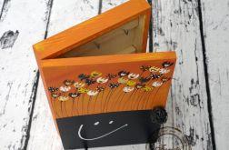 pudełko na klucze duże z tablicą tulipany