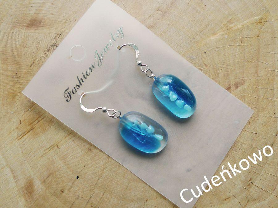 Błękitne oczko - ręcznie robione szkło