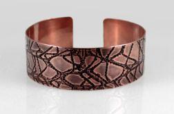 Pajęczyna - miedziana bransoleta 210601-01