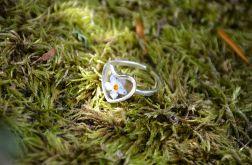 Zatopek pierścionek serce niezapominajka