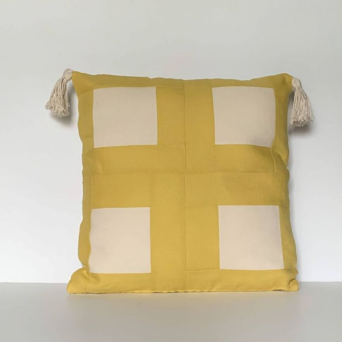 Słoneczne kwadraty z patchworku