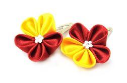 czerwono-żółte mini spinki