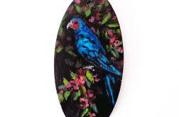 Ręcznie malowany wisior Niebieski ptak