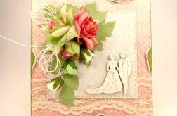 Ślubna - morela i Para Młoda