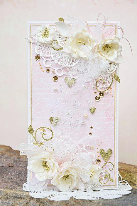 Kartka ślubna w pastelach wzór -