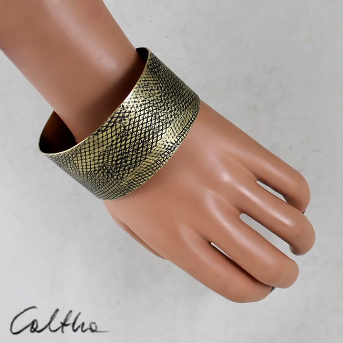 Mosiężna bransoleta - wężowa 150215-01
